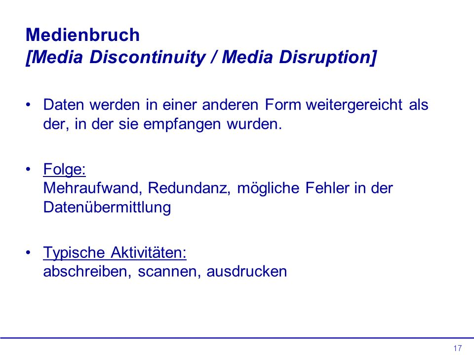 Medienbruch [Media Discontinuity / Media Disruption]